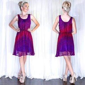Truth Purple Pattern Flowy Airy Whimsical Dress